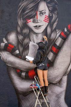 Fin DAC new street art x Angelina Christina - Palm Springs, California, USA