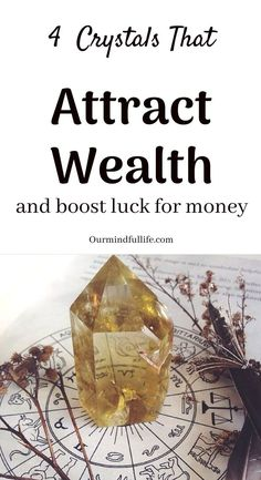 Crystal for Wealth and Money – 4 Affordable Crystals to Invest In- OurMindfulLif… – Manifest Anything You Want Crystal Healing Stones, Citrine Crystal, Crystal Magic, Crystal Grid, Crystals For Wealth, Crystals And Gemstones, Stones And Crystals, Crystals For Manifestation, Love Spells