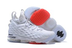 """Off-White x Nike LeBron 15 """"White"""" Men's Basketball Shoes"""