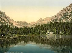 1890 Photo Popper See, Tatra, Austro-Hungary Hungary, River, Outdoor, Outdoors, Rivers, Outdoor Games