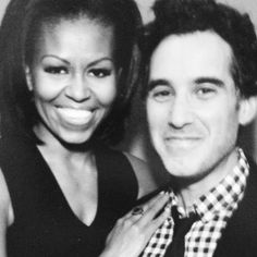 Two people I would really love to meet    #michelle #obama #joshua #radin #lovely people