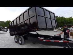 Dump Trailer 8.5'x14' Hydraulic - 4' Sides 7000 lbs Axles - http://sleequipment.com/news/dump-trailer-8-5x14-hydraulic-4-sides-7000-lbs-axles/
