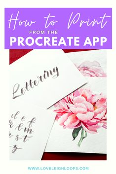 How to guide on Printing from the Procreate App! Whether it's for your portfolio or to give as a gift, it is possible to transfer your on-screen artwork into a physical piece.  #ProcreateApp #Howtoguide #printfromProcreate #Procreate #calligraphy #Procreatebasic #Printtopaper #stepbystep