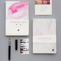 ● three second class Japanese blank inside pages of the bare notebook stationery notebook notebook notebook