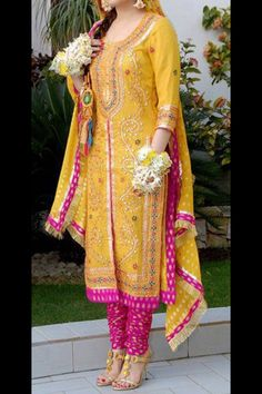 Yellow & Pink perfect for a mehendi or mayoun