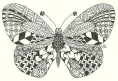 Zentangle Butterfly.