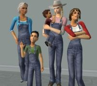 Mod The Sims - Overalls (that go over all) For Farmers of All Ages -Updated Jan 31