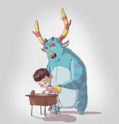 La imaginación Cartooning, Character Design, Illustration