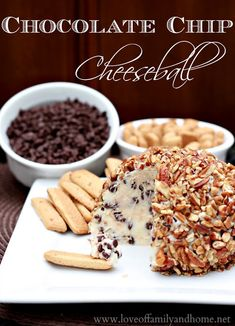 Oh, yum! This would be perfect when we have friends over! Chocolate Chip Cheeseball Recipe