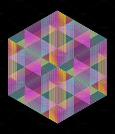 Triangle Color Lines Pattern - Abstract