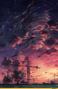 Trendy Ideas For Dark Landscape Art Scenery Fantasy Landscape, Landscape Art, Landscape Design, Japan Landscape, Landscape Concept, Anime Scenery Wallpaper, Wow Art, Animes Wallpapers, Wallpapers Ipad