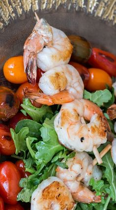 Grilled Shrimp on a Bed of Roasted Tomatoes