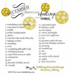 December 2013 Photo-a-day Challenge! #LBblogphotochallenge