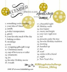 December 2013 Photo-a-day Challenge! #LBblogphotochallenge