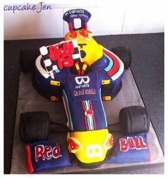 Red bull formula 1 racing car cake x