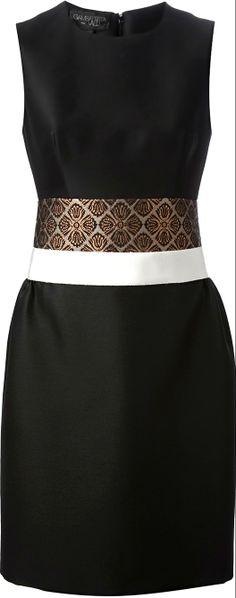 Giambattista Valli  ● Black Contrast Shift Dress