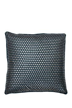 """Odom Deep Lake Studded Faux Linen Pillow - 20"""" x 20"""" by Thro Home on @HauteLook"""