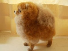 Artist Needle Felted Pomeranian Sculpture Gigi OOAK Sculpture Ready to SHIP | eBay