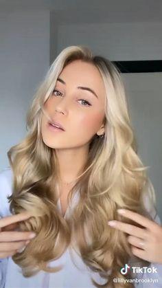 Voluminous Hair Tutorial, Hair Curling Tutorial, Voluminous Curls, Curls For Medium Length Hair, Long Wavy Hair, Girly Hairstyles, Pretty Hairstyles, Curl Hair Tutorials, Medium Hair Styles