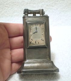 Vtg Rare Old 1928 Dunhill .088 Silver Lift arm table Lighter w/8 Day Clock.