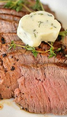 Herbed Butter Tenderloin Steak.... great cooking method.