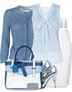 Небесная голубизна: 10 нежных образов для вашего гардероба