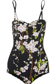 blossom printed one-piece