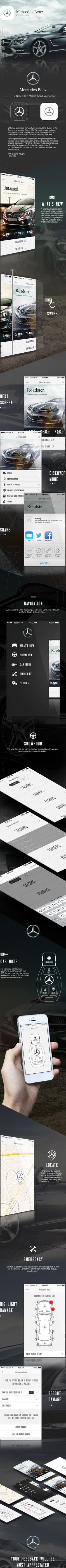 Mercedes-Benz iOS7 App Concept by Ramy Adel, via Behance