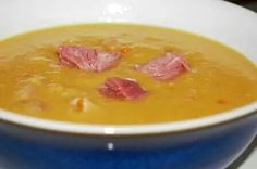Pea soup with salt beef