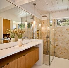 35 Trendy Mid-Century Modern Bathrooms To Get Inspired - DigsDigs