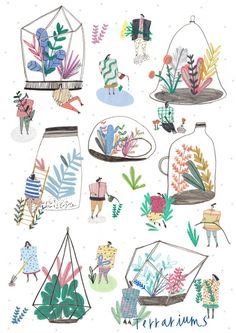 Illustration for Lilla Rogers Competition! Art And Illustration, People Illustration, Pattern Illustration, Graphic Design Illustration, Design Graphique, Art Graphique, Serpentina, Guache, Grafik Design