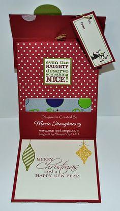 gift card holder #stampinup