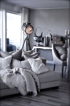 Everything! Love the spotlight, furry throw, and comfy pillows.