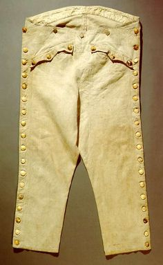 pantaloon from the time of the French Revolution, France, linen, buttons made of bone