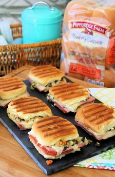 Easy Muffaletta Sliders : The McCallum's Shamrock Patch Slider Sandwiches, Appetizer Sandwiches, Appetizer Recipes, Panini Sandwiches, Appetizers, Sandwiches For Dinner, Sliders, Muffaletta Recipe, Tandoori