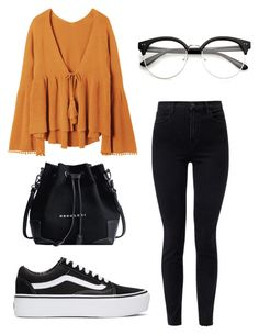 """Untitled #270"" by ninaellie on Polyvore featuring J Brand and Vans"