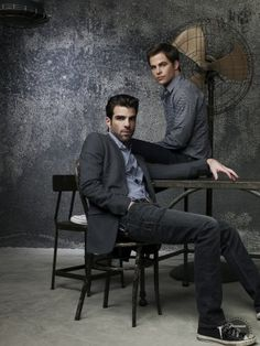 Chris Pine and Zachary Quinto.... Kirk & Spock