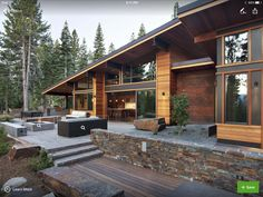 Landscaping, exposed steel beams, roof lines, variable exterior materials, Windows, deck, landscaping