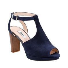 Kendra Charm Navy Suede - Womens Wide Width Shoes - Clarks® Shoes Official Site