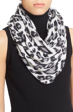 autumn cashmere Leopard Print Cashmere Scarf available at #Nordstrom