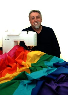 Gilbert Baker 2.6.1951 - 31.3.2017, american artist and gay rights activist