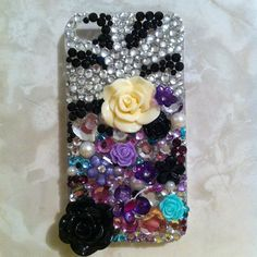 Bling zebra IPHONE 4 case by sparklingskye on Etsy, $35.00