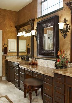 72 bathroom vanities with makeup area mediterranean bathroom vanity design ideas pictures - Bathroom Vanity Design Ideas