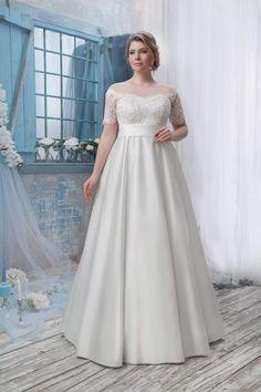 Wedding Dresses Lace - New ideas Beige Wedding Dress, Wedding Dress Trends, Wedding Dress Shopping, Modest Wedding Dresses, Cheap Wedding Dress, Wedding Dress Styles, Wedding Party Dresses, Bridal Dresses, Plus Size Wedding Dresses With Sleeves