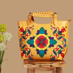 4338a4d63cd0 Yellow embroidery floral large cross shoulder embroidered hobo bag   AsianInspired  EmbroideredBag  Handbag  CanvasBag