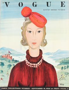 Vintage Vogue Covers, Sep 1936 #VintageVogueCoversKisyovaLazarinova