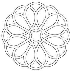 Stained Glass Designs, Stained Glass Patterns, Stencil Patterns, Pattern Art, Mandela Patterns, Celtic Quilt, Seed Bead Flowers, Blue Tattoo, Carving Designs