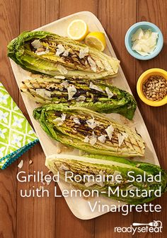 A simple romaine salad recipe quickly grilled and topped with a tangy dressing…