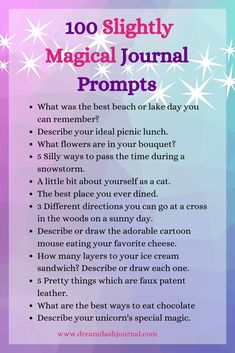 100 Magical Journal Prompts for Inspiration. Looking for some fun and creative journal prompts to in – Jenny Byrum - special Calling All Angels, Journal Writing Prompts, Sketchbook Prompts, Art Sketchbook, Journal Topics, Journal Entries, Journal Questions, Journal Inspiration, Journal Ideas