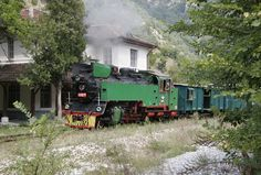 Bulgaria State Railways narrow gauge 2-10-2T steam locomotive, built in Poland in 1949, leading an excursion on the 110 km 760mm gauge line from Septemvri to Bansko, Bulgaria, August 26, 2006   by Ivan S. Abrams